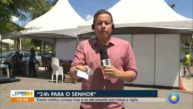 Vinte e Quatro Horas para o Senhor é realizado em João Pessoa - O evento começa hoje e vai até amanhã no Parque Solon de Lucena, com missas, vigiílias, mutirão de confissões e apresentações.