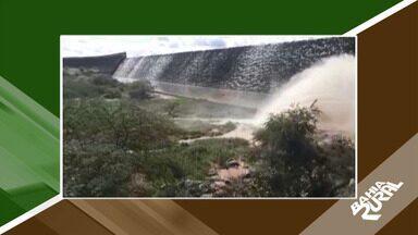 Agricultores enchem de esperança após chegada da chuva em Coronel João - A barragem do gasparino, inaugurada em 2012, fica a 18km da cidade. A chuva que caiu na região encheu o reservatório.