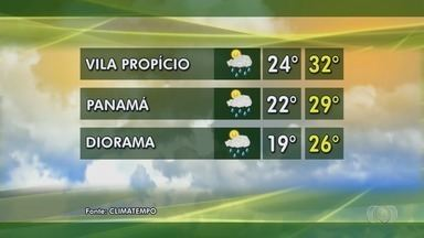 Veja como fica a previsão do tempo em Goiás - Confira como fica o tempo em Diomara e Vila Propício.