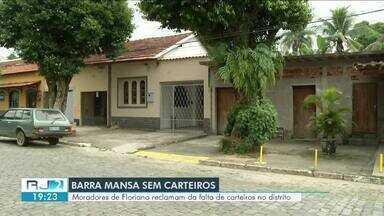 Contas de moradores do distrito de Floriano estão atrasadas por falta de carteiro - População do distrito precisa ir até o Centro de Barra Mansa, que fica a 22 quilômetros, pra receber as cartas.