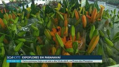 Expoflores vai até dia 14 de abril em Paranavaí - Neste Sábado o atendimento vai até as 21h.