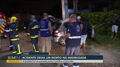 Jovem morre em acidente durante a madrugada - Foi na estrada entre Curitiba e Colombo