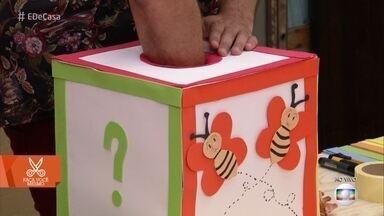 Especialista ensina caixa sensorial para divertir e ensinar crianças - Brincadeira é ótima para crianças com aproximadamente 5 anos de idade