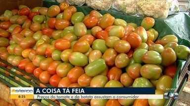 Preços do tomate e batata assustam os consumidores goianos - Consumidores reclamam dos altos preços do tomate e da batata em Goiás.