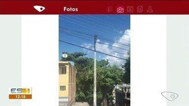 Poda de árvore é realizada no bairro São Luiz Gonzaga, em Cachoeiro, ES - Moradora pediu poda de árvore sete vezes para a prefeitura.