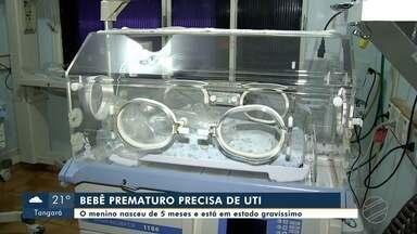 Bebê prematuro de Água Boa está em estado gravíssimo e espera uma UTI - Bebê prematuro de Água Boa está em estado gravíssimo e espera uma UTI