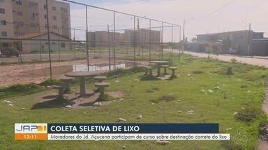 Moradores são habilitados para realizar coleta seletiva de lixo no Conjunto Açucena - Palestra aconteceu neste sábado (6), em Macapá. Expectativa é que projeto gere renda à comunidade.