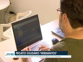 Projeto insere venezuelanos no mercado de trabalho - Grupo tanbém ajuda com doações.