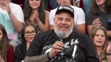 João Gordo declama letra de música sobre Amazônia - Ele atende ao pedido de Serginho