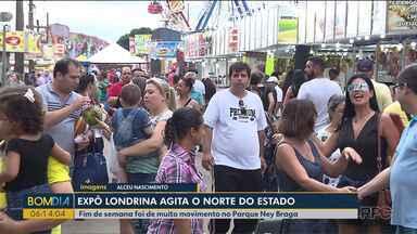 Exposição de Londrina agita o Norte do Estado - Fim de semana foi de muito movimento no Parque Ney Braga