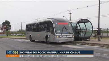 Hospital do Rocio, em Campo Largo, ganha linha de ônibus - Passageiro da RMC pode pagar apenas uma passagem.