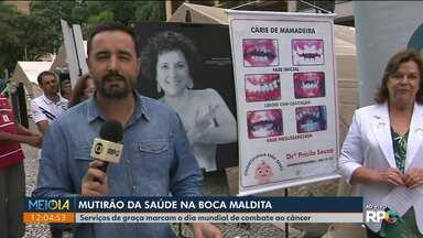 Serviços gratuitos marcam o Dia Mundial de Combate ao Câncer - A ação ocorre na Boca Maldita, em Curitiba.