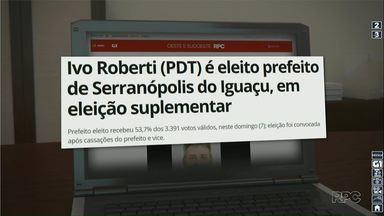 Ivo Roberti (PDT) é eleito prefeito de Serranópolis do Iguaçu - Confira a reportagem completa no g1.com.br/foz
