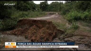 Cidades do nodeste paraense estão isoladas devido as condições de estradas - Força da água destruiu pontes e prejudicou mais de duas mil pessoas.