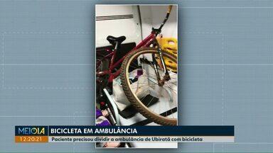 Paciente flagra bicicleta dentro de ambulância, em Ubiratã - Prefeitura da cidade disse que caso foi isolado.