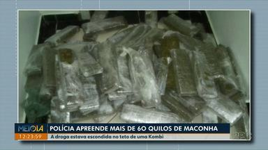 Domingo de apreensões de drogas no Paraná - em uma delas, traficante levava uma oração - Uma das situações foi em Foz do Iguaçu e outra em Santa Terezinha do Itaipu.