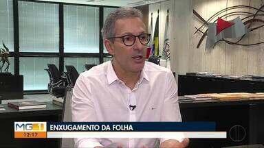 Governador de Minas, Romeu Zema, faz balanço sobre os cem primeiros dias do mandato - Privatizações, mineração e enxugamento da folha foram alguns dos assuntos discutidos.