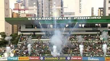 Em tarde de aniversário, Goiás vence o Goiânia e avança para a decisão do Estadual - Comemorando 76 anos de história, Verdão elimina o Galo vencendo o segundo jogo da semifinal por 3 a 1