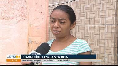 Mulher é morta pelo companheiro com 30 facadas, em Santa Rita - Ela estava com o companheiro há pouco mais de um ano.