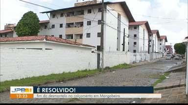 """Calendário JPB mostra """"calçada limpa"""" e problema resolvido, em Mangabeira - Dia de comemoração, em Mangabeira. População pede ajuda, Calendário pressionou e o problema foi resolvido."""