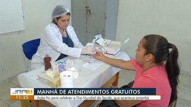 Moradores do bairro Mecejana recebem ação de sáude gratuita, em Boa Vista - Evento é alusiva ao Dia Mundial da Saúde, celebrado no domingo (7).