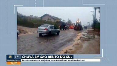 Chuva causa estragos em São Bento do Sul - Chuva causa estragos em São Bento do Sul