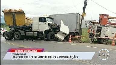 Após acidente de trânsito, Pinda ficou sem abastecimento de água - Veja mais informações.