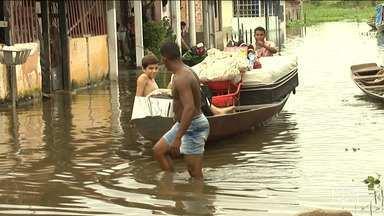 Centenas de famílias estão desabrigadas após fortes chuvas no Vale do Pindaré - Problema ocorre após rios transbordarem em várias regiões do estado.