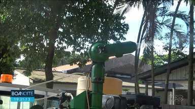 Carro do fumacê é usado no combate a dengue em Cianorte - Já são mais de 100 casos confirmados.