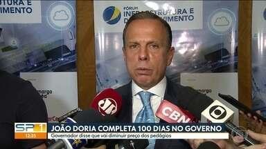 João Doria completa 100 dias como governador do Estado - Governo quer reduzir preço dos pedágios até 2022. Natuza Nery comenta.