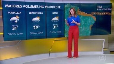 Litoral do Nordeste entra no radar dos temporais, que podem chegar até o Amapá - Veja também a previsão do tempo completa para todo o Brasil.
