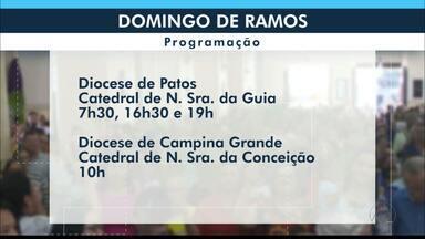 Programação do Domingo de Ramos nas Dioceses da Paraíba - Início da Semana Santa.