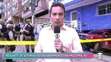 Resgate de vítimas de desabamento no Rio de Janeiro entra no quarto dia - Ainda há 14 pessoas desaparecidas após a queda de dois edifícios na comunidade da Muzema