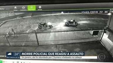 PM baleado após reagir a assalto morre depois de quase dois meses internado - Rafael Bruzadin Rezende tinha 34 anos e trocou tiros com bandidos que tentaram roubar a moto dele.