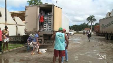 Caminhão carregado de peixe é apreendido na entrada de São Luís - Segundo a polícia, carga vinha de Santa Catarina e segundo os técnicos, estava sendo transportada inadequadamente.