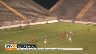 Monte Azul garante classificação para semifinal da Série A3 - Jogo contra Capivariano terminou em 2 a 0 para o Monte Azul.