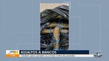 Polícia prende trio suspeito de planejar assaltos a bancos, em Goiás - Com eles, a polícia encontrou vários explosivos. Ordem para os crimes vinha de dentro do presídio de acordo com as investigações.