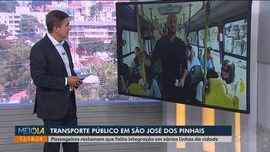 Más condições dos ônibus e falta de integração são reclamações de passageiros de SJP - O repórter Tarcísio Silveira embarcou em uma das linhas com o secretário de transportes da cidade.