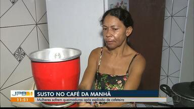 Mulheres sofrem queimaduras após explosão de cafeteira em João Pessoa - Duas mulheres ficaram feridas.
