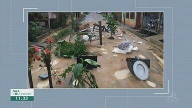 Fala Comunidade: Moradores protestam em Parintins, no AM - População colocou bananeiras e outros objetos.