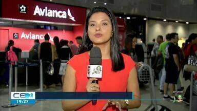 Avianca cancela 20 voos com partida ou chegada em Fortaleza - Companhia está em processo de recuperação judicial