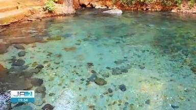 Rio Azuis, em Aurora do Tocantins, é interditado por problemas ambientais - Rio Azuis, em Aurora do Tocantins, é interditado por problemas ambientais
