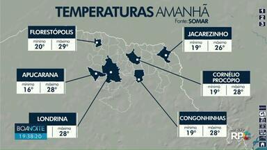 Paraná pode ter pancadas isoladas de chuva nesta terça-feira (16) - A partir de quarta as áreas de instabilidade se afastam do Estado.