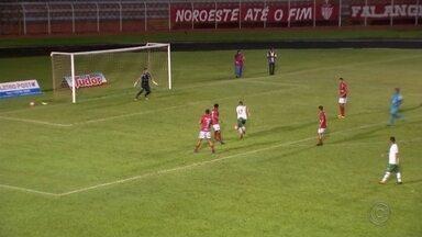 Noroeste perde para o Barretos e é eliminado na Série A3 - Confira como foi a derrota do Noroeste para o Barretos, por 1 a 0, em duelo disputado no estádio Alfredão, em Bauru. O resultado eliminou o time bauruense da competição.