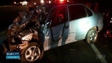 Um homem morreu depois de acidente na BR-373 em Candói - Ele estava em um carro que bateu de frente com uma caminhonete.