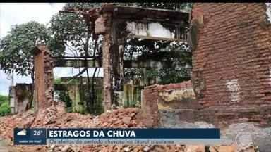 Chuvas continuam causando estragos no litoral do Piauí - Chuvas continuam causando estragos no litoral do Piauí