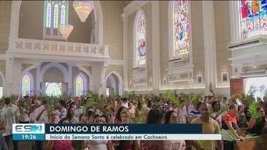 Domingo de Ramos marca o início da Semana Santa em Cachoeiro, ES - Houve procissão e missa na cidade.