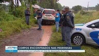 Corpos de dois jovens são encontrados dentro da área da bacia de decantação da Caesa - Cadáveres foram localizados no fim da manhã desta segunda-feira (15), no bairro Pedrinhas.