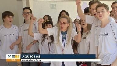 Jovens se unem à campanha Aquece MS - Jovens se unem à campanha Aquece MS.