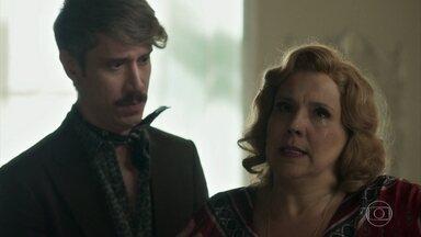 Ondina chora por acontecimento do passado - Adamastor quer saber o que está deixando a mãe tão abatida